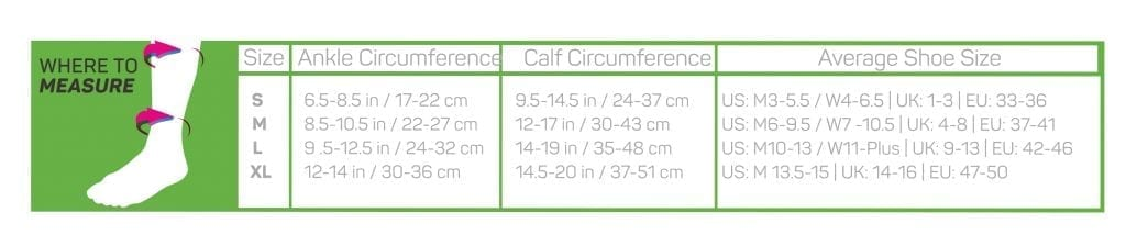 maattabel-CS6-kuitcompressie